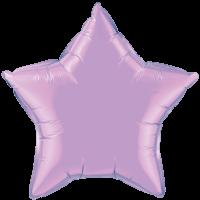 "20"" Custom Printed Pearl Lavender Star Foil Balloons"