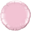 "18"" Custom Printed Pearl Pink Round Foil Balloons overview"