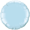 "18"" Custom Printed Pearl Light Blue Round Foil Balloons overview"