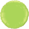 "18"" Custom Printed Lime Green Round Foil Balloons overview"
