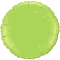 """18"""" Custom Printed Lime Green Round Foil Balloons"""