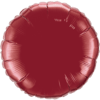"18"" Custom Printed Burgundy Round Foil Balloons overview"