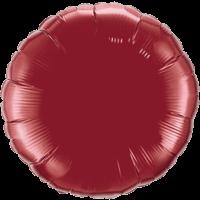 "18"" Custom Printed Burgundy Round Foil Balloons"