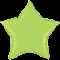 """20"""" Custom Printed Lime Green Star Foil Balloons"""