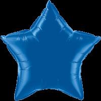 "20"" Custom Printed Dark Blue Star Foil Balloons"