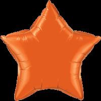 """20"""" Custom Printed Orange Star Foil Balloons"""