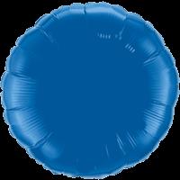 "18"" Custom Printed Dark Blue Round Foil Balloons"