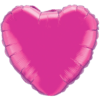 """18"""" Custom Printed Magenta Heart Foil Balloons overview"""