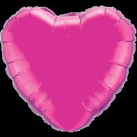 "18"" Custom Printed Magenta Heart Foil Balloons"