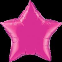 "20"" Custom Printed Magenta Star Foil Balloons"