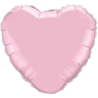 "18"" Custom Printed Pearl Pink Heart Foil Balloons"