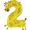 """Zooloon 40"""" Number 2 Giraffe product link"""