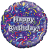 "Happy Birthday Streamers Holographic 18"" product link"