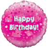 Happy Birthday Pink Swirls  product link