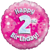 Happy 2nd Birthday Pink Holographic product link