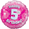 Happy 5th Birthday Pink Holographic product link