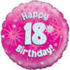 Happy 18th Birthday Pink Holographic product link