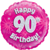 Happy 90th Birthday Pink Holographic product link