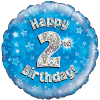 Happy 2nd Birthday Blue Holographic product link