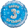 Happy 3rd Birthday Blue Holographic product link