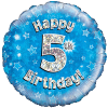 Happy 5th Birthday Blue Holographic product link