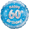 Happy 60th Birthday Blue Holographic product link