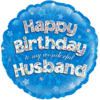 "Happy Birthday to my Wonderful Husband Holographic 18"" product link"