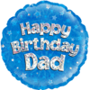 Happy Birthday Dad Blue Holographic product link