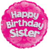 "Happy Birthday Sister Holographic 18"" product link"