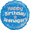 Happy Birthday Teenager Blue Holographic product link