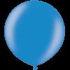 3 Foot Metallic Blue Latex Balloon overview