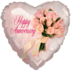 "18"" Happy Anniversary Bouquet Heart Balloon overview"