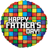"18"" Mosaic Fathers Day Balloon overview"