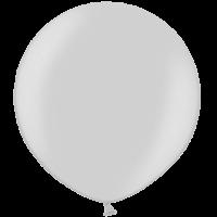 2ft Metallic Silver Giant Latex Balloon