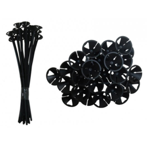 Black Balloon Sticks - 1 Piece Product Display