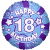 Blue Happy 18th Birthday Holographic product link