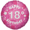 """18"""" Pink Happy 18th Birthday Holographic Balloon product link"""
