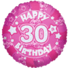 Pink Happy 30th Birthday Holographic product link