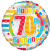 "18"" Unisex Happy 70th Birthday product link"