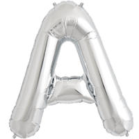 "34"" Letter A Silver Foil Balloon"