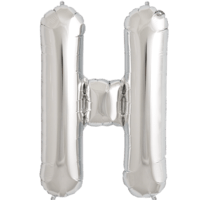"34"" Letter H Silver Foil Balloon"