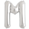 """34"""" Letter M Silver Foil Balloon overview"""