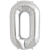 """34"""" Letter O Silver Foil Balloon overview"""