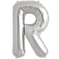 "34"" Letter R Silver Foil Balloon"