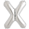 """34"""" Letter X Silver Foil Balloon overview"""