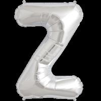"34"" Letter Z Silver Foil Balloon"
