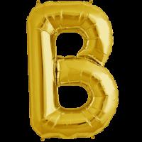 """34"""" Letter B Gold Foil Balloon"""
