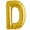 "34"" Letter D Gold Foil Balloon overview"