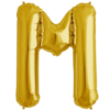 """34"""" Letter M Gold Foil Balloon overview"""