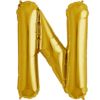 """34"""" Letter N Gold Foil Balloon overview"""
